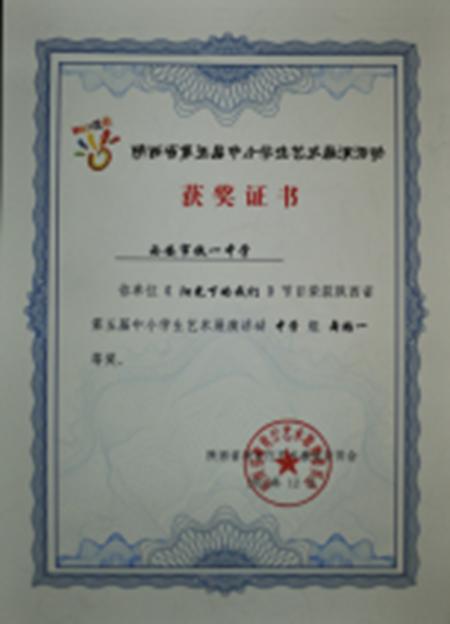 《阳光下的我们》节目荣获陕西省第五届中小学生艺术展演活动中学组舞蹈一等奖