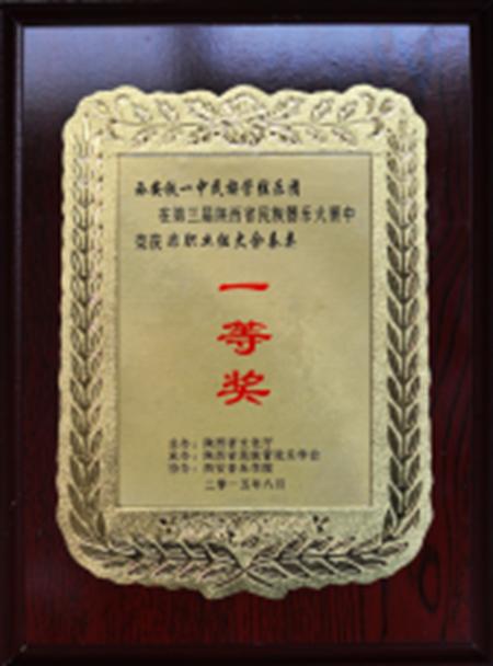 第三届陕西省民族器乐大赛中荣获非职业组大合奏类一等奖