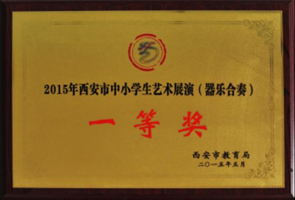 2015年西安市中小学生艺术展演(器乐合奏)一等奖